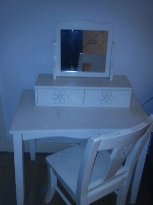 Girls table ,mirror and chair
