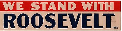 We Stand With ROOSEVELT Window Strip Decal