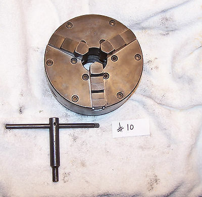 "6"" Buck 3 Jaw Chuck W/key Could Fit South Bend Craftsman Atlas W/backplate"