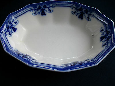 JOHNSON BROTHERS ROYSTON-FLOW BLUE (c.1910+) SERVING BOWL- EXCELLENT! BEAUTIFUL!