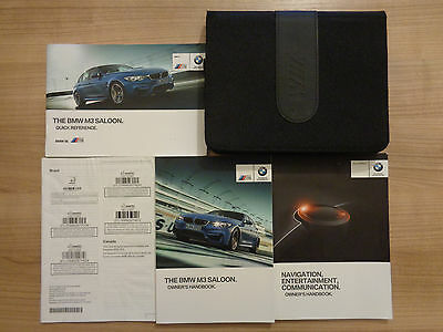 BMW M3 Owners Handbook/Manual and Pack 14-17