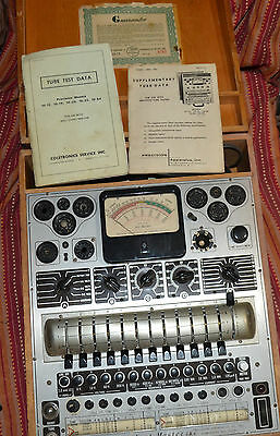 Precision Apparatus Series 10-54 Test Master Tube Tester Two Manuals Vintage