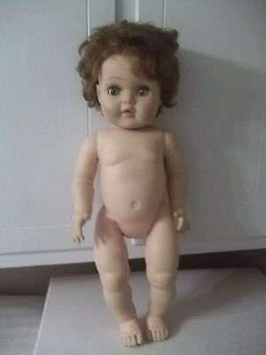 """Vintage American Character TINY TEARS ? Rubber DOLL 20"""" ESTATE FIND"""