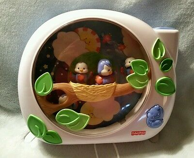 FISHER PRICE Baby Crib Soother Music Projector FLUTTERBYE Dream Birds EUC