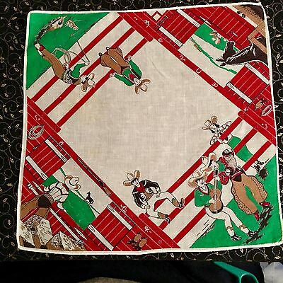 Childs Cowboys Hanging Around The Corral Handkerchief