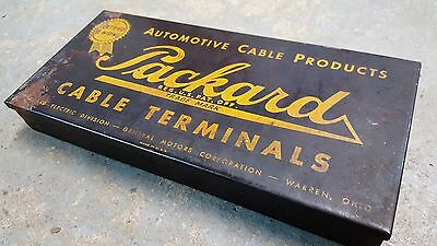 Packard Cable Terminals Box Vintage with Original Terminals Rare