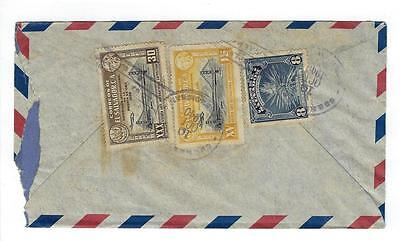 1940 El Salvador To Canal Zone Airmail Cover (#D30)