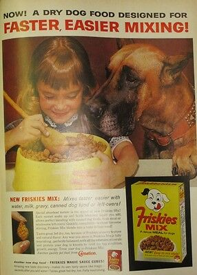Vintage 1963 Friskies Dog Food Print Ad