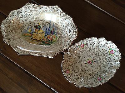 """JAMES KENT OLD FOLEY 3087 """"CRINOLINE LADY"""" PLATE and """"EMBASSY"""" PLATE"""