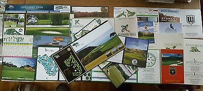 golf scorecards lot 75+ different unused great courses included