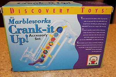 DISCOVERY TOYS MARBLEWORKS Crank It Up Accessory Set NEW in box