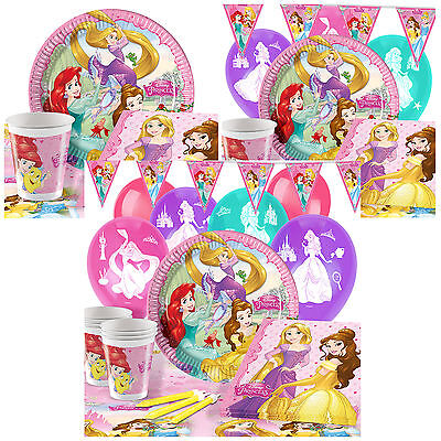 Disney Princess Complete Party Pack Tableware Kits - For 8 or 16 Guests