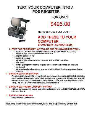 Change Your Computer Into A Computerized Register For Only $495.00 !