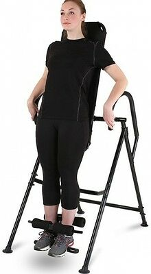 Inversion Table Robust Iron Comfortable Padding Lying Surface Back Trainer Black