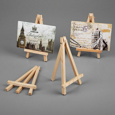 10pcs Mini Wooden Art Painting Craft Photo Easel Stand Display Supplies