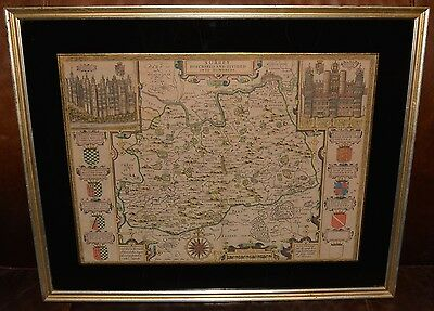 Antique Map, SURREY DESCRIBED AND DIVIDED IN HUNDREDS, by John Speed, Circa 1611