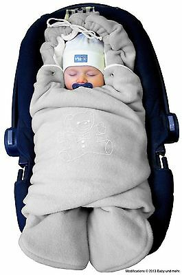 ByBoom - Swaddling Wrap Car Seat and Pram Blanket for Winter Universal for in...