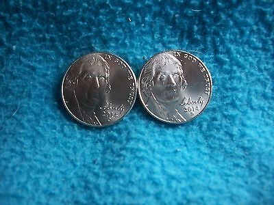 2014 P & D Jefferson Nickel Uncirculated, 2 Coins