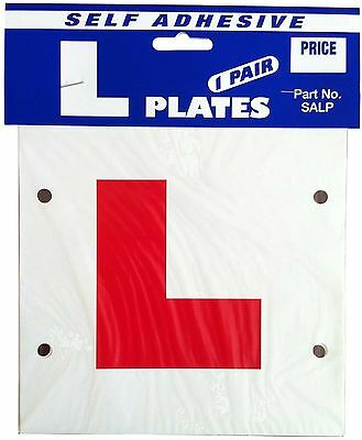 Castle SALP Self-Adhesive L Plates (Pack of 2)