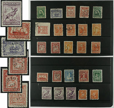 Newfoundland CDS lot of 25 postmarks most are TPOs /RPO railway(2 CAPOs,others)