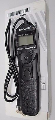 Neewer DSLR Camera Shutter Release Wired LCD Timer Remote Control Intervalometer