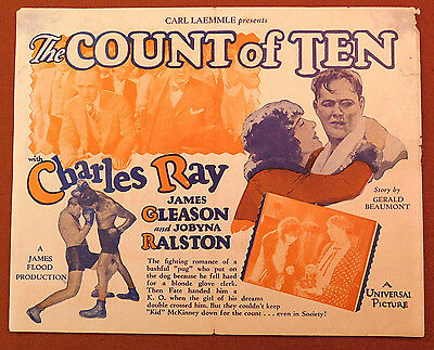 THE COUNT OF TEN 1928 Rare Universal Silent Film MOVIE HERALD Boxing CHARLES RAY
