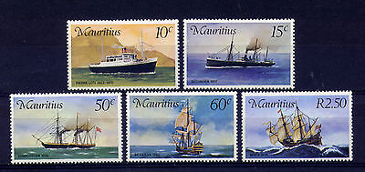 MAURITIUS 419-23('76) MAIL CARRIERS in MAURITIUS(Ships)--MINT VF NEVER HINGED