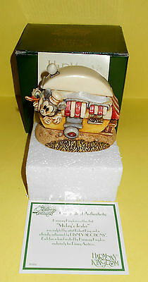 Disney Auctions Harmony Kingdom Mickey's Trailer Marble Figurine - New - Le