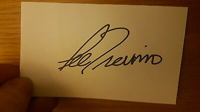 Lee Trevino Signed and autographed index card