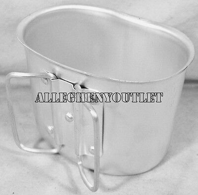 NEW GI Style HEAVY GUAGE Aluminum Canteen Cup - Fits 1 Quart Plastic Canteens