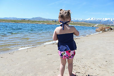 Alva Baby Girl Swim Diaper Pant Washable Reusable One Size Breathable Cover