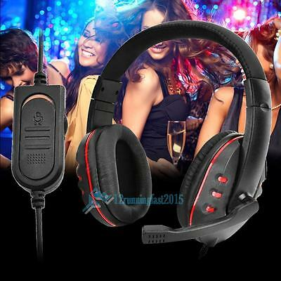 Universal Adjustable Wird Noise Gaming Headset Headphone Boom Microphone For PS4