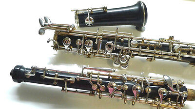 Full Conservatory Grenadilla Wood Oboe Low Bb by Prestini or Orsi Well Made