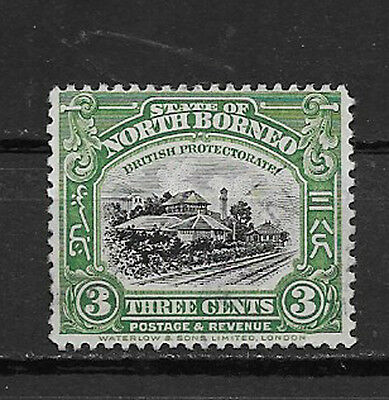 NORTH BORNEO, MALAYSIA , 1926/28 , 3c STAMP , PERF , USED