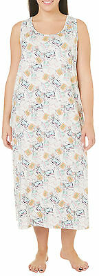 Coral Bay Womens Postcard Sleeveless Nightgown