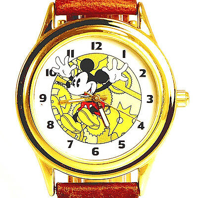 Fossil Disney Mickey Co Rare Collectable Easy Read Mans Watch LI-2007 Under $100