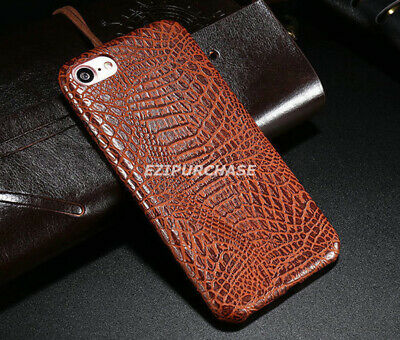 Luxury Crocodile Genuine PU Leather Back Case Cover For iPhone X 7 8 Plus