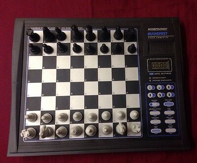 Kasparov Electronic Chess Game Alchemist Fully Working Teacher Learn