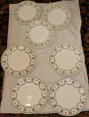 W.A.A. William Adderley Chippendale 3 small plates & 4 larger plates