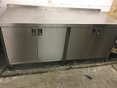 Commercial stainless steel cupboard prep table work bench