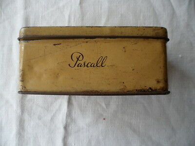 Antique Vintage Old Yellow Tin Pascall Sweets