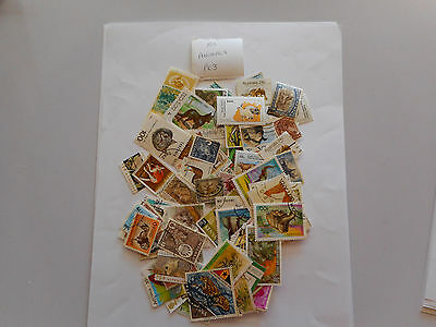 100 used postage stamps ANIMALS pk3 no doubles