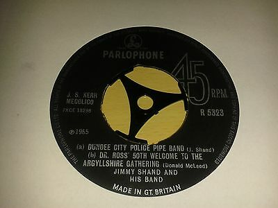"""Jimmy Shand And His Band - """"Dundee City Police Pipe Band""""  7"""" (1965)  R 5323"""