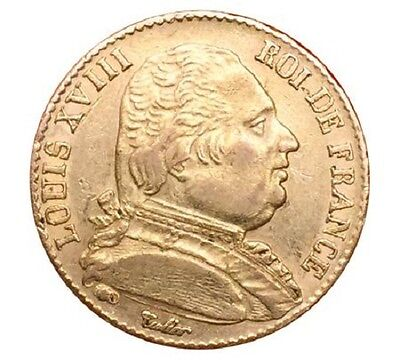 20 Francs Or Louis XVIII 1815A