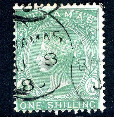 BAHAMAS-1898 1/- Blue-Green Sg 44a  FINE USED V13983