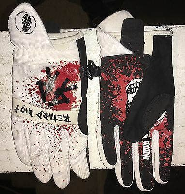 NEW Grenade GBS Red/ White Retard Riot Snowboard Gloves Sz S/XS Small/XSmall