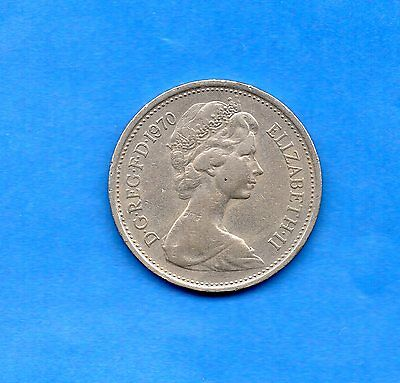 1970 British Decimal Five Pence 5p Coin Wedding Favour Birthdays gift Keep g1