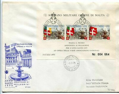 18008) SMOM 1975 FDC Christmas - Flags - Natale - Anno
