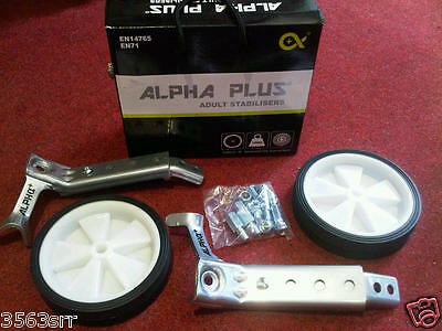"Alpha Plus Adult Stabilisers to fit 20""-26"" wheel bikes"