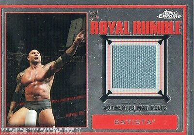 2014 WWE Topps CHROME Wrestling BATISTA AUTHENTIC ROYAL RUMBLE MAT RELIC CARD
